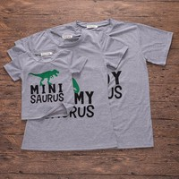 Cool Fathers Day Daddys Girl Dinosaur Shirt Summer Outfits King And Queen Kids Clothes Little Girls Clothing Mommy And Me Plus SizeAT_93_12