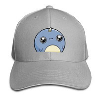 Pro-Style Cute Funny Little Baby Narwhals Sandwich Peak Hats Adults Cap Ash