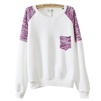 Gorgeous Hoodies Sweatshirts Pullovers Knitted - Sleeve & Pocket White Color