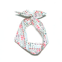 Bright Tribal Wire Headband Dolly Bow by All Things in Color