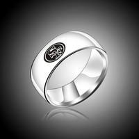 San Francisco 49ers Logo Titanium Stainless Steel Arc Women and Men Soprt Ring