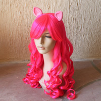 Pinkie Pie costume cosplay wig - Pink curly wig / friendship is magic / my little pony costume