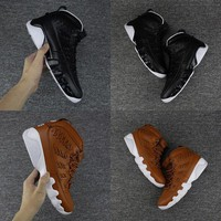 2017 Air jordan retro 9 Baseball Glove pack Man basketball shoes black Sneakers eur 41-47
