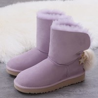 Women's UGG snow boots Middle boots DHL _1686248855-447