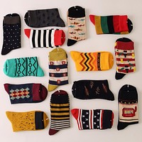 New Style Man luxury colorful Business cotton brand men socks,colorful dress socks US 7.5-12 5 pairs/lot