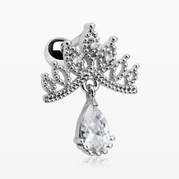 zzz-Mandala Crown Sparkle Cartilage Tragus Barbell