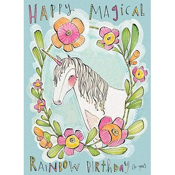 Happy Magical Rainbow Birthday (to You) Greeting Card