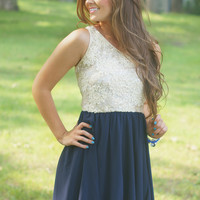 One Sided Love Dress NAVY