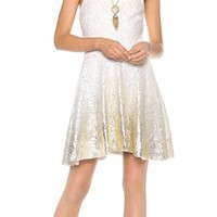 Free People Foil Ombre Lace Fit N Flare Dress | SHOPBOP
