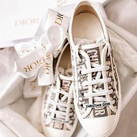 Dior Embroidery  Fashion casual shoes