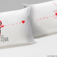 Captured by Your Love™ Couple Pillowcases,His and Hers Pillowcases,Couple Gifts,Valentine's Day Gifts for Him for Her