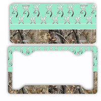 Mint Browning Camo License Plate Frame Car Tag Country Hunting