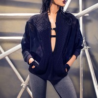 Michi - Shoota Batwing Jacket | Black Workout Wear Jacket