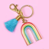 Retro Rainbow Keychain