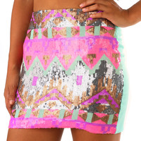 Looking Through The Glass Skirt: Multi