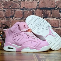 Air Jordan Retro 6 GS Pink Kid Basketball Shoes - Best Deal Online