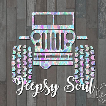Jeep Jeepsy Soul, Jeep Decal, Car, Monogram, Personalized Name, Yeti, RTIC, Tumbler Decal Decals, Jeep Lover, Jeep Life