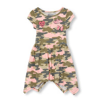 Toddler Girls Short Sleeve Patch Camo Hanky Hem Knit Dress | The Children's Place