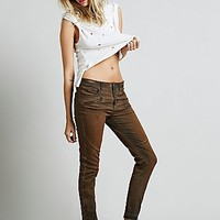 Free People Womens Lone Ranger Relaxed Skinny