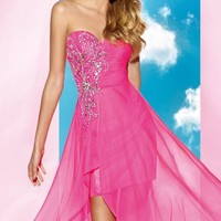 Beaded Chiffon Gown by Alyce BDazzle