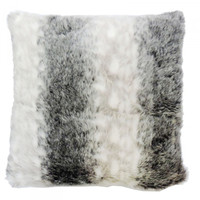 Black / White Faux Fur Cushion