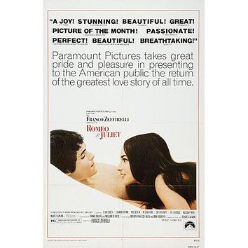 Romeo and Juliet  Poster//Romeo and Juliet Movie Poster//Movie Poster//Poster Reprint