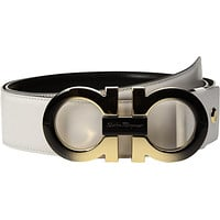 Salvatore Ferragamo Men's Adjustable Degrade Belt - 679702 White Belt