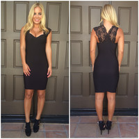 Alexis Lace Dress In Black