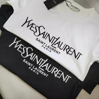 SAINT LAURENT YSL Printed Cotton T-shirt