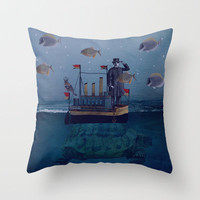 The Voyage Throw Pillow by SuzanneCarterNZ