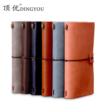 Special Offer DINGYOU Travel Notebook Vintage Notebook Diary Leather Strap Notebook A6 1PCS