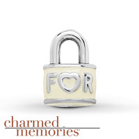 Charmed Memories Forever Lock Sterling Silver Charm