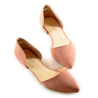 Simple Solid Color And Stitching Design Women'S Flat Shoes LAVELIQ