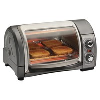 Hamilton Beach 4 Slice Easy Reach Oven - Gray