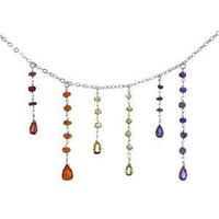 CHAKRA NECKLACE   Chakras, System, Indian, Sanskrit, Necklaces, Jewelry, Multi-colored, Gemstones   UncommonGoods