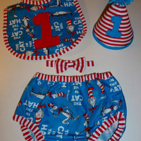 Dr Seuss Cat in the Hat Birthday Outfit
