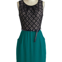 Meet Your Marvelous Mishmash Dress in Teal