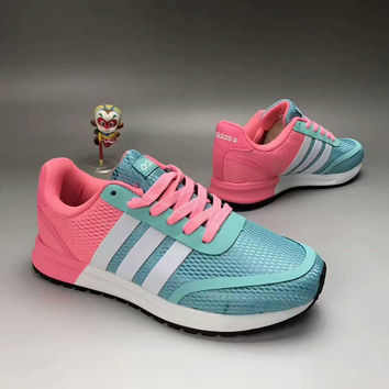 """""""Adidas NEO"""" Fashion Casual Multicolor Stripe Breathable Net Sneakers Women Running Shoes"""