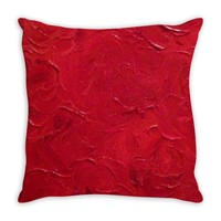 Red Passion Swirl Design - Throw Pillows