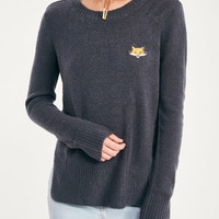 Fox Patch Embroidered Sweater | Wet Seal