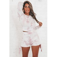 On Cloud Nine Ivory And Rose Tie Dye Set