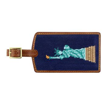 Statue of Liberty Needlepoint Luggage Tag by Smathers & Branson