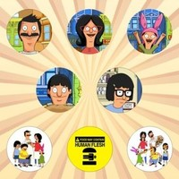Bob's Burgers Set of 8 - 1 Inch Pinback Buttons