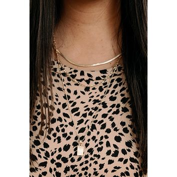 Top Tier Necklace - Gold