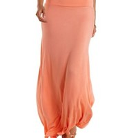 Coral Double Slit Maxi Skirt by Charlotte Russe