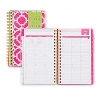 Day Designer Pink Trellis CYO Weekly/Monthly 3.625 x 6.125 Planner July 2015 - June 2016