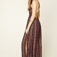 Southwestern Print Maxi Dress