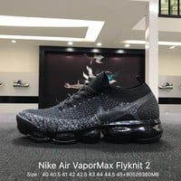 Nike Air Vapor Max Flyknit 2 Black Sports Running Shoes Sneaker - 942842-203
