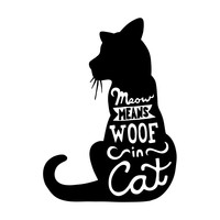 Meow Character-Type Wall Decal