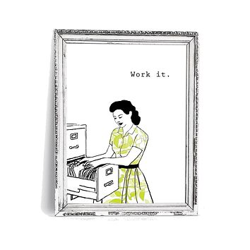 Wall Print | Work it